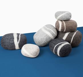 Kieselsteine aus Filz